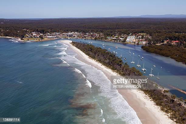 Aerial View of Huskisson, NSW, Australia