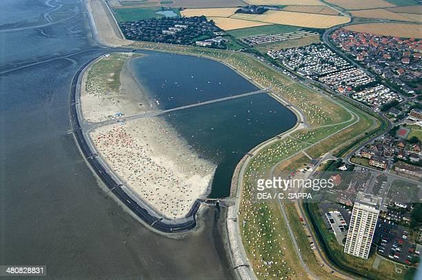 Aerial view of Husum SchleswigHolstein Germany