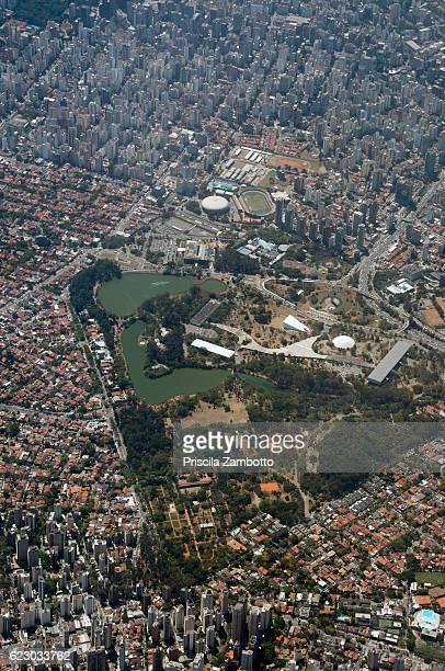 Aerial view of Ibirapuera Park