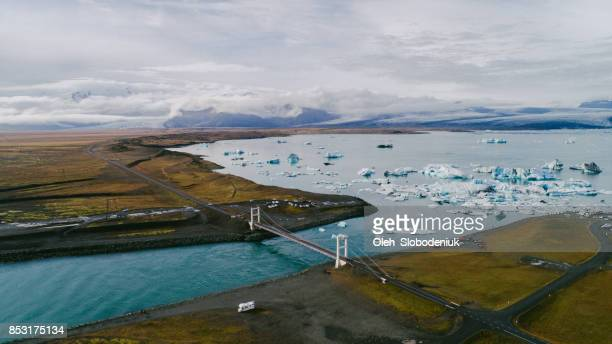 Aerial view of Ice lagoon