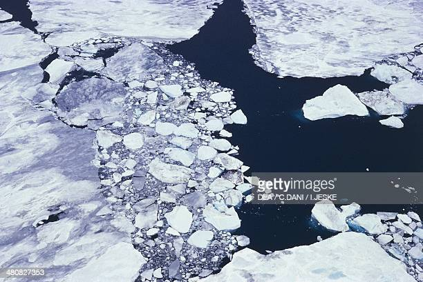 Aerial view of ice pack Ross Sea Antarctica