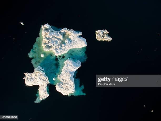 Aerial View of Iceberg in Repulse Bay, Nunavut, Canada