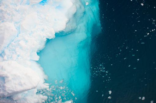 Aerial view of icebergs  in Antarctica 920176486