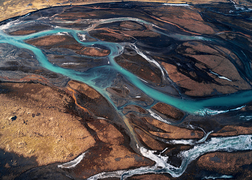 Aerial view of Iceland - gettyimageskorea