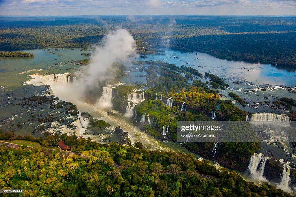 Aerial View of Iguazu Falls : Stock Photo