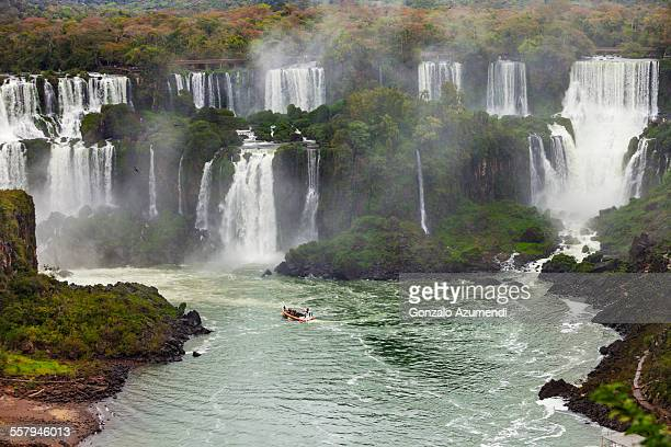 aerial view of iguazu falls - paraguay fotografías e imágenes de stock