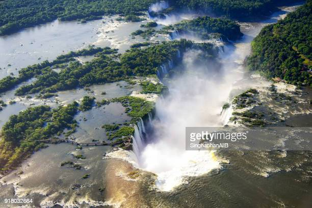 aerial view of Iguazu waterfall, Brazil