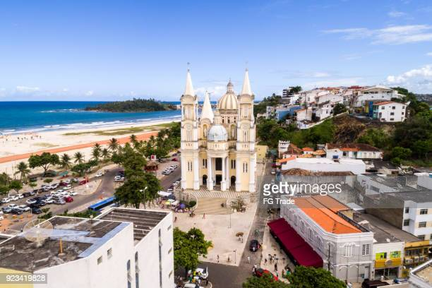 aerial view of ilheus in bahia, brazil - island stock pictures, royalty-free photos & images