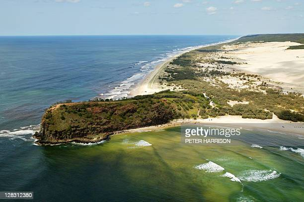 Aerial view of Indian Head, Fraser Island, Queensland, Australia