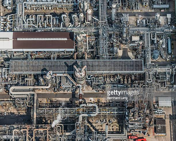 Aerial view of industrial complex