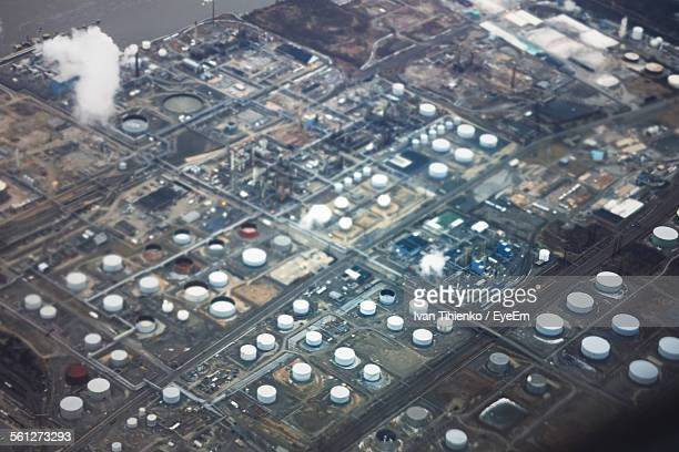 Aerial View Of Industrial Plant