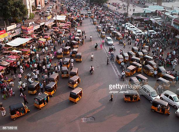 Aerial view of intersection, Hyderabad