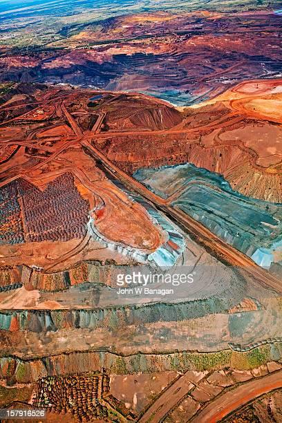 Aerial view of iron ore mine, Newman, Australia