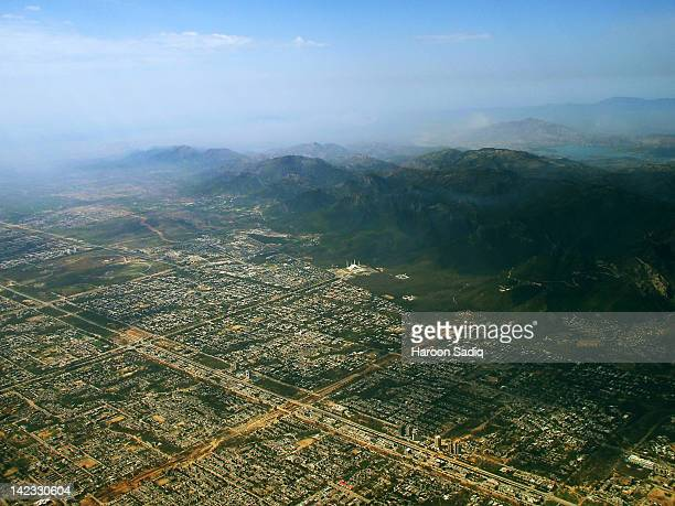 aerial view of islamabad - islamabad stock pictures, royalty-free photos & images