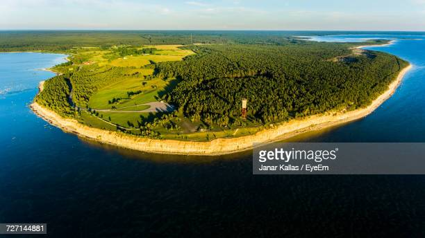 aerial view of island - funen stock pictures, royalty-free photos & images
