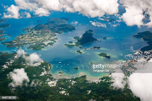 Aerial View of Islands in Hong Kong