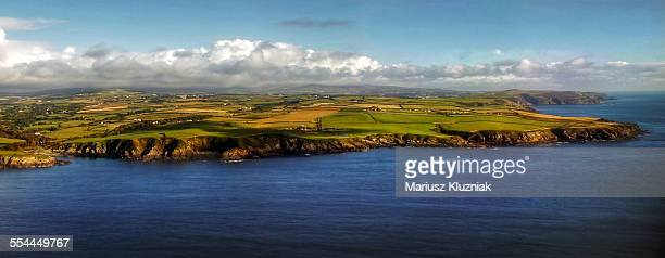 Aerial view of Isle of Man coastline
