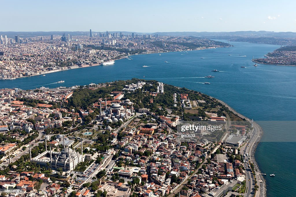 Aerial View of Istanbul City : Stock Photo