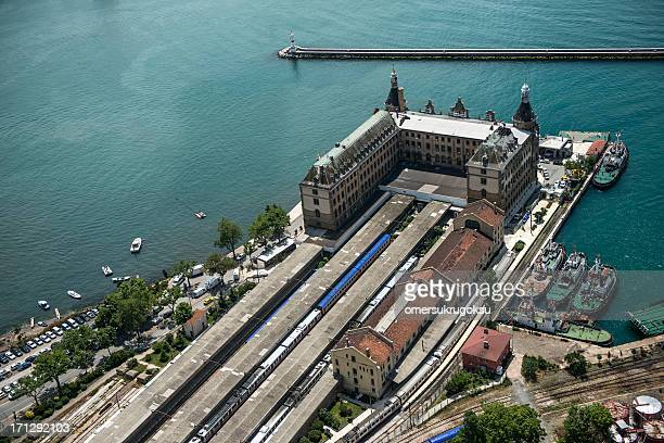 aerial view of istanbul - haydarpasa stock photos and pictures