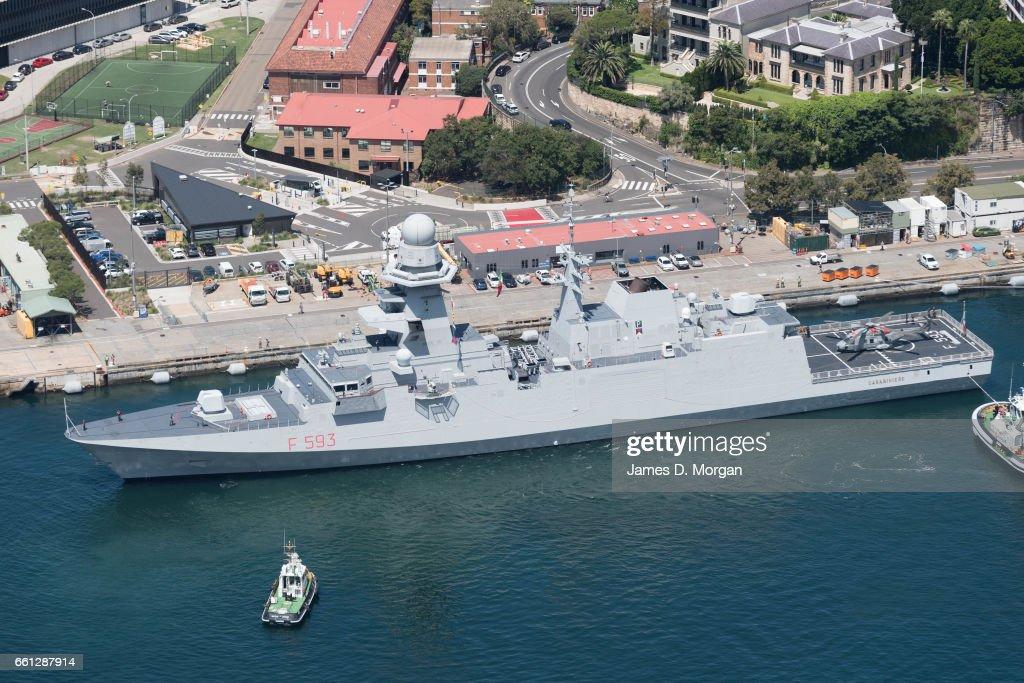Italian Warship Carabinieri Departs Sydney : News Photo