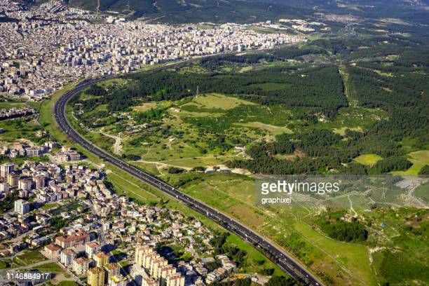 aerial view of izmir - izmir stock pictures, royalty-free photos & images