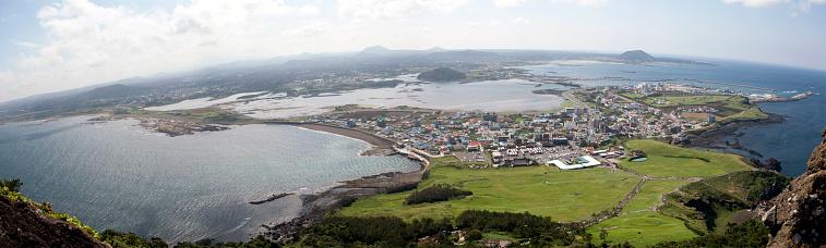 Aerial view of Jeju Island, South Korea - gettyimageskorea