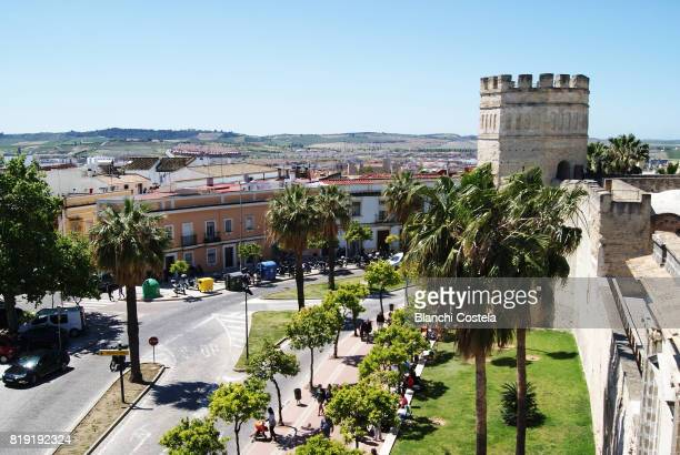 aerial view of jerez de la frontera - jerez de la frontera stock pictures, royalty-free photos & images