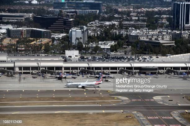 Aerial view of John Wayne Airport in Santa Ana California on Thursday May 11 2017