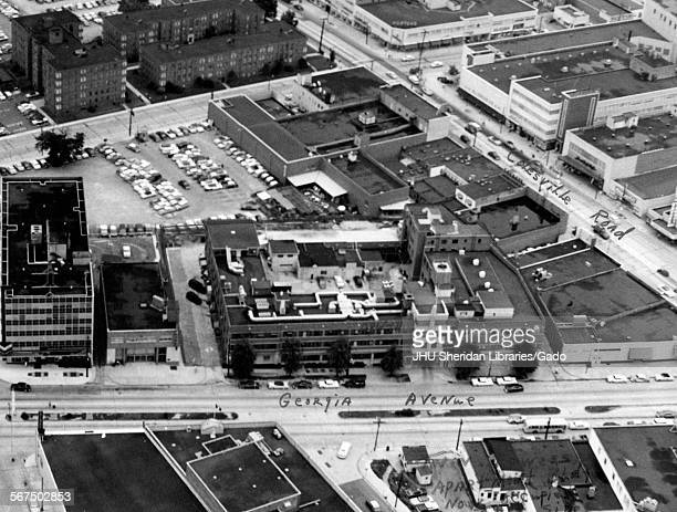 Aerial view of Johns Hopkins Applied Physics Laboratory Silver Spring Maryland 1958
