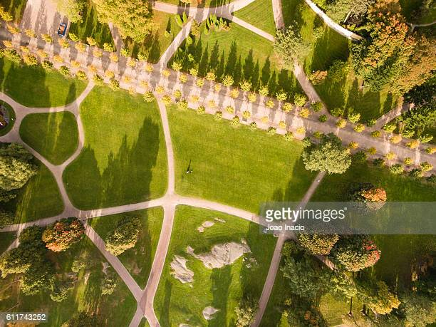 aerial view of kaivopuisto park, helsinki, finland - helsinki stock pictures, royalty-free photos & images