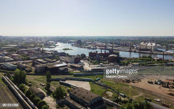 aerial view of kaliningrad, russia - kaliningrad stock pictures, royalty-free photos & images