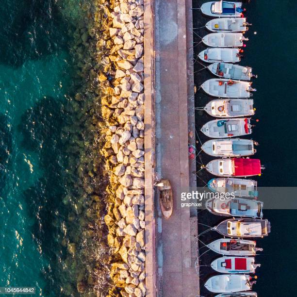 aerial view of karaburun izmir - izmir stock pictures, royalty-free photos & images
