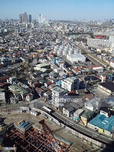 aerial view of kashimada of saiwai-ku, kawasaki - 川崎市 ストックフォトと画像
