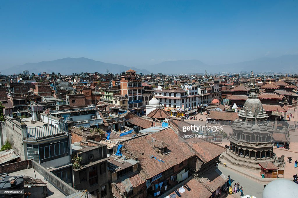 Aerial view of Kathmandu city : Stock Photo