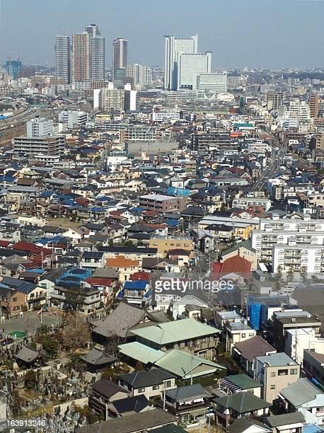 aerial view of kawasaki - 川崎市 ストックフォトと画像