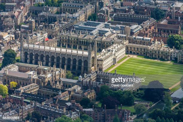 CAMBRIDGE ENGLAND MAY 23 Aerial view of King's College part of Cambridge University on May 23 2007 Founded in 1441 by Henry VI its full name...