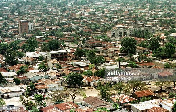 Aerial view of Kinshasa western part of the city taken 16 May 2000.