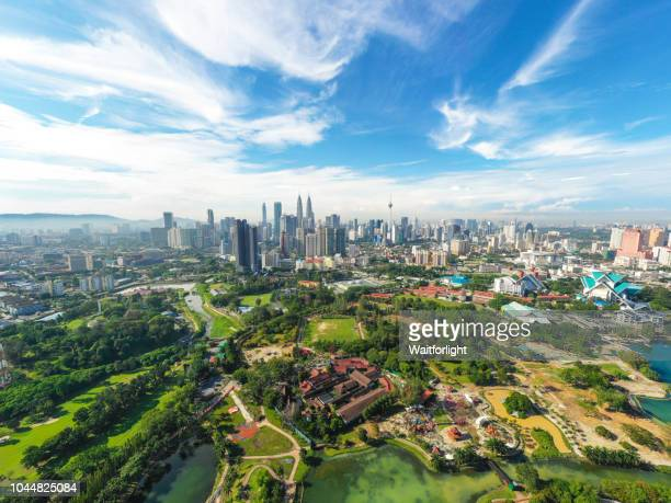 aerial view of kuala lumpur cityscape at daytime - kuala lumpur stock pictures, royalty-free photos & images