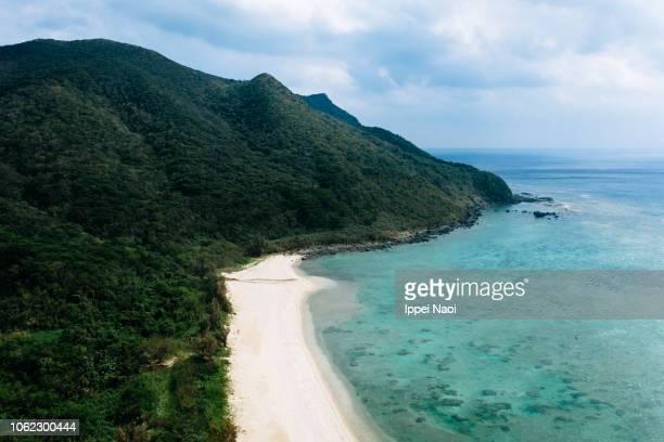 Aerial view of Kume Island, Okinawa, Japan