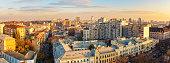 aerial view kyiv city center district