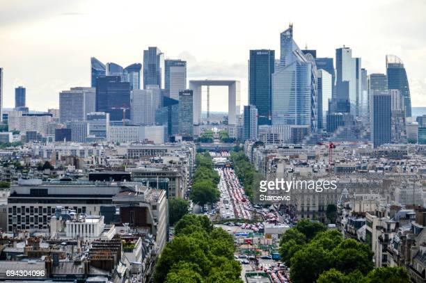 Vue aérienne de La défense à Paris, France
