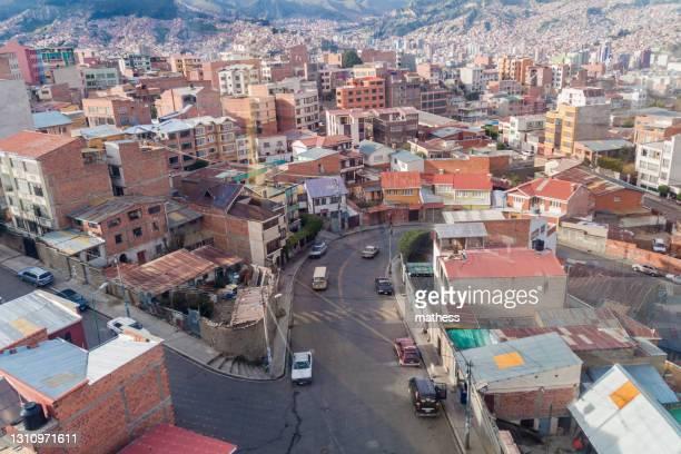 aerial view la paz bolivia