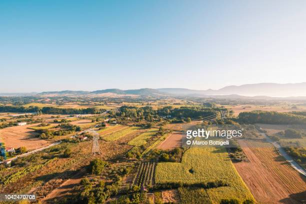 Aerial view of La Rioja countryside, Spain