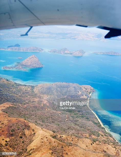 Aerial view of Labuanbajo on Flores island