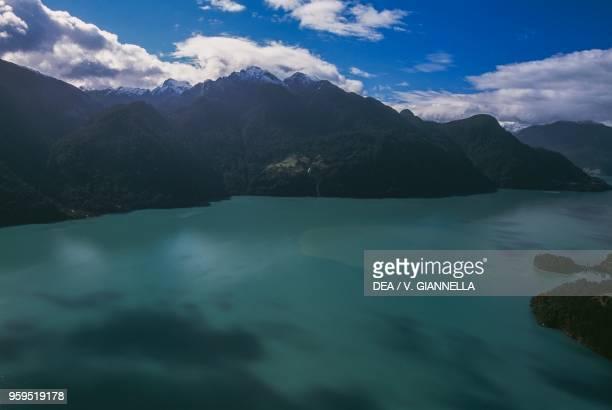 Aerial view of Lago Todos los Santos Vicente Perez Rosales National Park Los Lagos Region Chile
