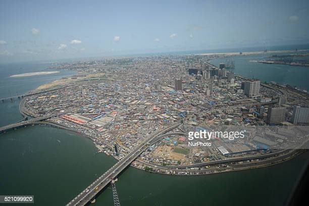 Aerial view of Lagos Island in Lagos, the commercial capital of Nigeria on Wednesday, April 13 2016.