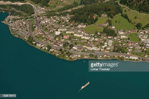 Aerial view of, Lake Lucerne, Switzerland, Europe