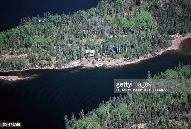 Aerial view of Lake of the Woods Ontario Canada