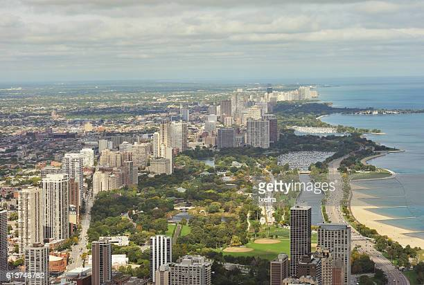 Aerial View of Lake Shore Drive in Chicago