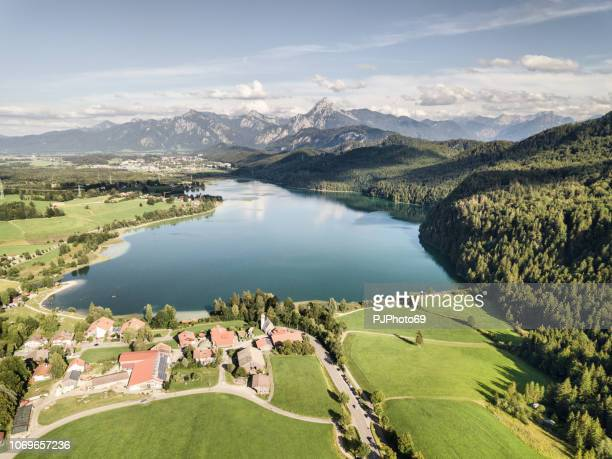 Aerial view of lake Weissensee in summer season - Carinthia